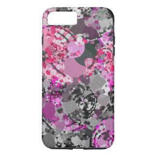 Coque iPhone 8 Plus/7 Plus Abrégé sur rose Girly gris