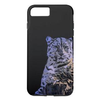 Coque iPhone 8 Plus/7 Plus Abrégé sur tigre de bleu glacier