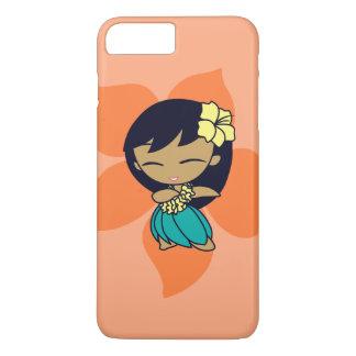 Coque iPhone 8 Plus/7 Plus Aloha fille de danse polynésienne hawaïenne de