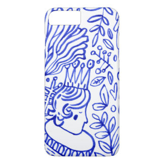 Coque iPhone 8 Plus/7 Plus amour bleu blanc IPHONE de jardin