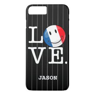 Coque iPhone 8 Plus/7 Plus Amour de drapeau de sourire de la France