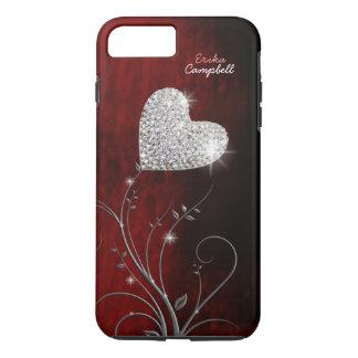 Coque iPhone 8 Plus/7 Plus amour girly personnalisé de coeur