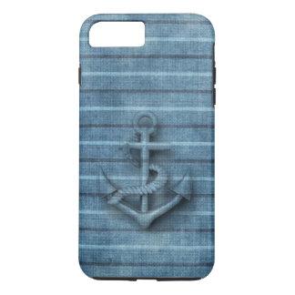 Coque iPhone 8 Plus/7 Plus Ancre chique nautique vintage