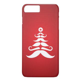 Coque iPhone 8 Plus/7 Plus Arbre de Noël de la moustache de Père Noël