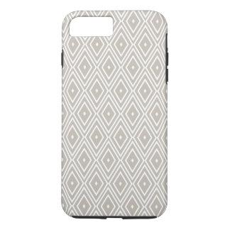 Coque iPhone 8 Plus/7 Plus Argile et motif blanc de diamant
