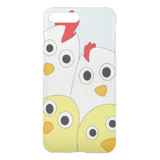 Coque iPhone 8 Plus/7 Plus Arrière - plan bleu de famille de poulet