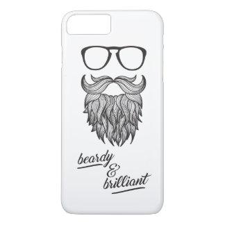 Coque iPhone 8 Plus/7 Plus beardy et brillant