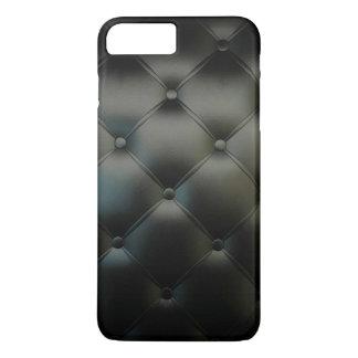 Coque iPhone 8 Plus/7 Plus Beau cuir noir romantique