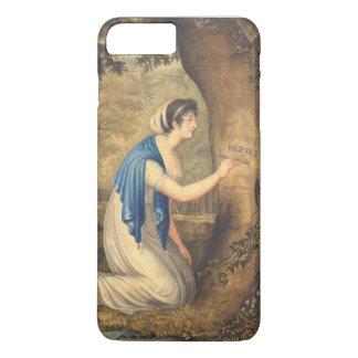 Coque iPhone 8 Plus/7 Plus Belle femme de peinture française romantique dans