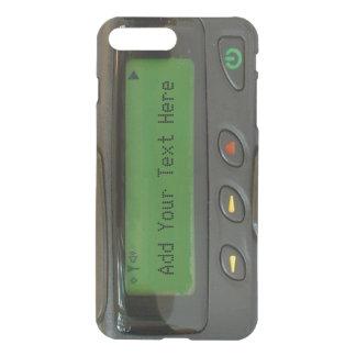 Coque iPhone 8 Plus/7 Plus Bipeur drôle personnalisé de la vieille école 90s