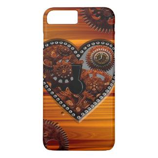Coque iPhone 8 Plus/7 Plus Boîte principale grunge de coeur d'horloges et de