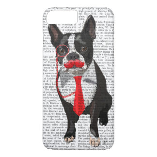 Coque iPhone 8 Plus/7 Plus Boston Terrier avec la cravate et la moustache