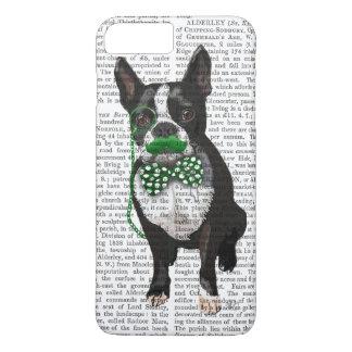 Coque iPhone 8 Plus/7 Plus Boston Terrier avec la moustache verte et tacheté