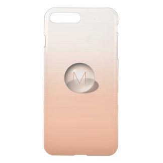 Coque iPhone 8 Plus/7 Plus Boule monochromatique d'Ombre de pêche de
