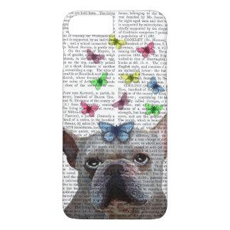 Coque iPhone 8 Plus/7 Plus Bouledogue français et papillons blancs