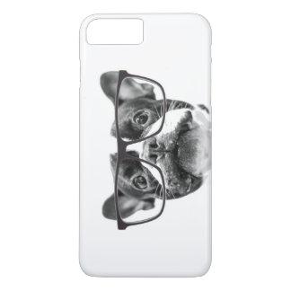 Coque iPhone 8 Plus/7 Plus Bouledogue français honorable avec des verres