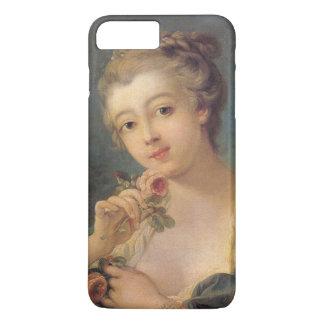 Coque iPhone 8 Plus/7 Plus Bouquet de jeune femme des roses par Francois