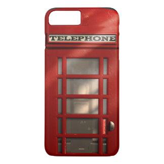Coque iPhone 8 Plus/7 Plus Cabine téléphonique rouge britannique vintage