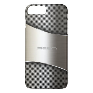 Coque iPhone 8 Plus/7 Plus caisse d'or avec le plat et les vis perforés