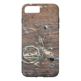 Coque iPhone 8 Plus/7 Plus Caisse en bois affligée