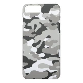 Coque iPhone 8 Plus/7 Plus Camo noir et gris