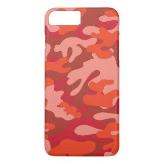 Coque iPhone 8 Plus/7 Plus Camouflage rouge