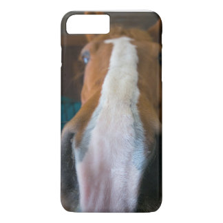 Coque iPhone 8 Plus/7 Plus Cas de l'iPhone 7 de portrait de cheval
