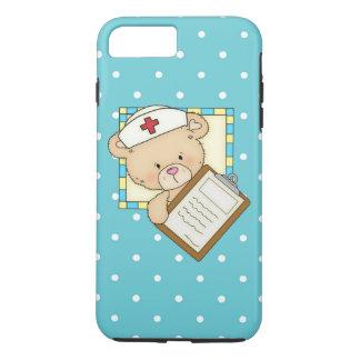 Coque iPhone 8 Plus/7 Plus Cas dur plus de l'iPhone 7 d'ours d'infirmière
