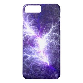 Coque iPhone 8 Plus/7 Plus Cas électrique de téléphone de fractale de coeur