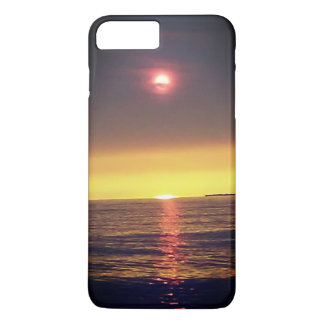 Coque iPhone 8 Plus/7 Plus Cas flou de Phane de coucher du soleil