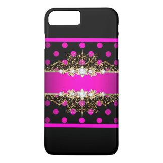 Coque iPhone 8 Plus/7 Plus Cas Girly de jewell et de points