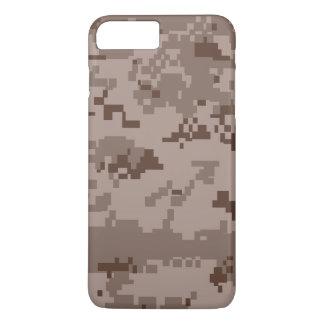 Coque iPhone 8 Plus/7 Plus Cas plus de l'iPhone 7 de camouflage de désert de