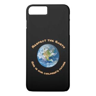 Coque iPhone 8 Plus/7 Plus Cas plus de l'iPhone 7 de respect de la terre de
