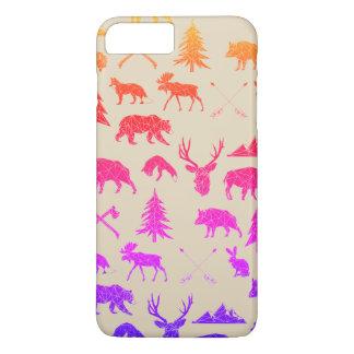 Coque iPhone 8 Plus/7 Plus Cas plus de l'iPhone 7 géométriques des animaux  