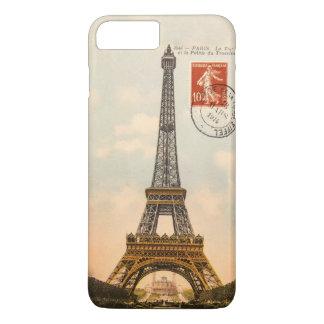 Coque iPhone 8 Plus/7 Plus Cas plus de l'iPhone 7 vintages de Tour Eiffel