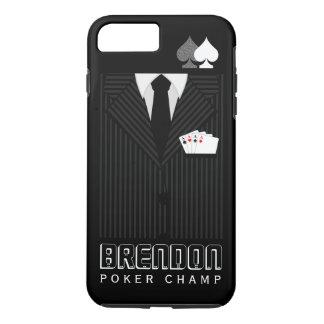 Coque iPhone 8 Plus/7 Plus Casino noir frais de champion de tisonnier de