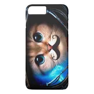 Coque iPhone 8 Plus/7 Plus Chat de moustache d'astronaute