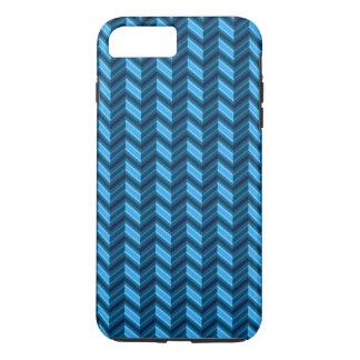 Coque iPhone 8 Plus/7 Plus Chevron bleu-foncé frais