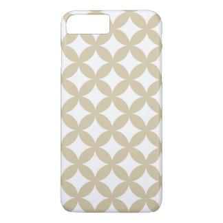 Coque iPhone 8 Plus/7 Plus Conception en bronze et blanche de Geocircle