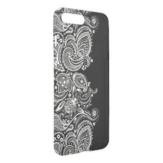 Coque iPhone 8 Plus/7 Plus Conception Girly noire et blanche GR2 de dentelle