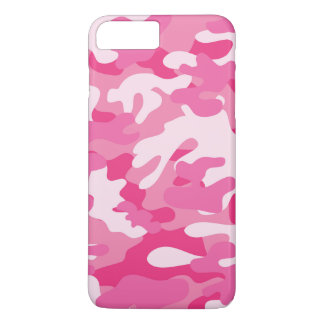 Coque iPhone 8 Plus/7 Plus Conception rose et blanche de Camo