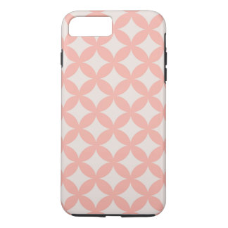Coque iPhone 8 Plus/7 Plus Conception rose et bronzage de Geocircle