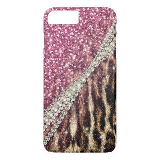 Coque iPhone 8 Plus/7 Plus Copie animale de fourrure de faux de beau léopard