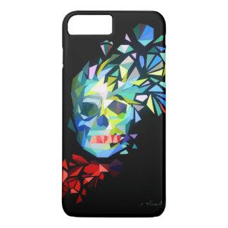 Coque iPhone 8 Plus/7 Plus Crâne coloré de diamant avec un arc