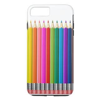 Coque iPhone 8 Plus/7 Plus crayon de couleur