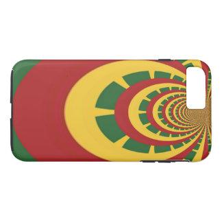 Coque iPhone 8 Plus/7 Plus Créez votre propre Jamaicans vert d'or rouge