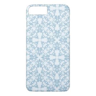 Coque iPhone 8 Plus/7 Plus Damassé bleu-clair