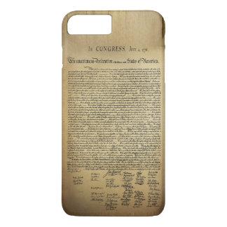 Coque iPhone 8 Plus/7 Plus Déclaration d'indépendance vintage