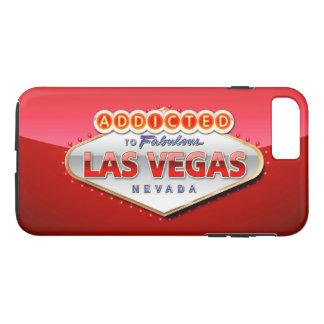 Coque iPhone 8 Plus/7 Plus Dépendant signe drôle à Las Vegas, Nevada