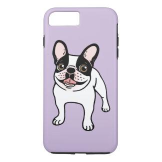 Coque iPhone 8 Plus/7 Plus Double Frenchie pie à capuchon heureux